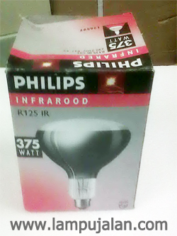 Lampu Infrared R 125 IR Philips